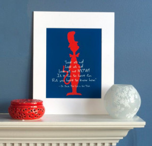 Dr. Seuss The Cat in the Hat Quote Print by PlainlyGabby on Etsy, $25 ...
