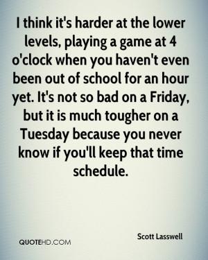 ... yet. It's not so bad on a Friday, but it is much tougher on a Tuesday