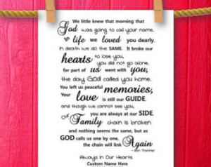 Loss Of A Loved One Quotes And Poems In loving memory poem,