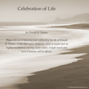 Celebration of Life Invitation Template Free