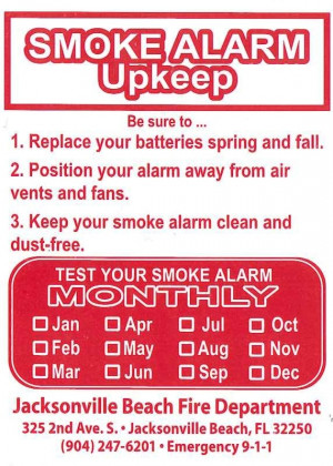 Fire Safety Smoke Alarms
