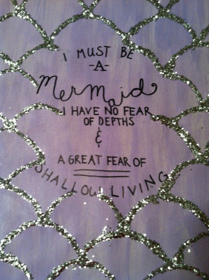 Mermaid scales DIY- quote by Anais Nin