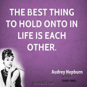 Audrey Hepburn Love Quotes