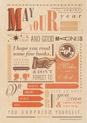 Neil Gaiman New Year's Quote
