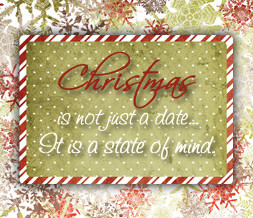 Red & Green Christmas Wallpaper - Xmas Quote Theme Preview