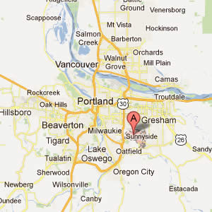 Portland Oregon and Surrounding Area Map