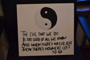Yin Yang Quotes Yin and yang painting :) by