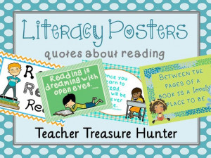 literacy themed posters ~ quotes about reading http://www ...