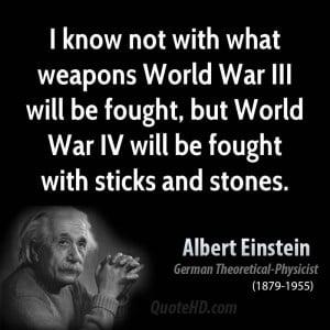 Albert Einstein War Quotes