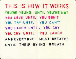 colorful, how it works, life, quotes, regina spektor reginaspektor quo ...