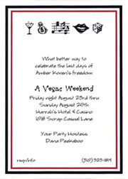 Las Vegas Weekend Invitation