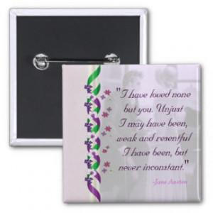 Jane Austen Quote - Persuasion Button