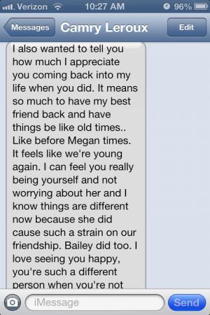 best friend text on Tumblr