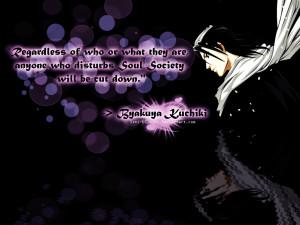 Bleach Byakuya Kuchiki Quotes