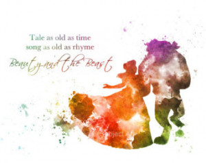 Belle, Beauty and the Beast, Ballro om Dance, Quote 'Tale as old as ...