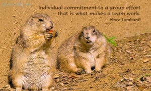 Individual Commitment To A Group Effort That Is What Makes A Team Work