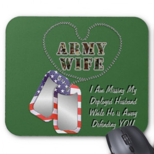 Army Wife Love Husband Deployed Mousepad