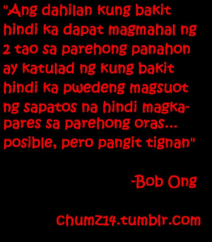 Inspirational Love Quotes Tagalog Bob Ong