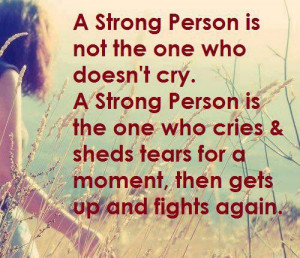 Strong Person Inspirational Quote