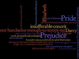 ... wordle with Pride and Prejudice quotes. (Click on pic for close up