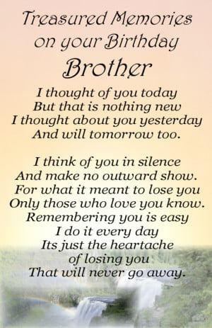 Details about Bereavement Grave Card BROTHER Birthday my no 64