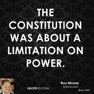 The Constitution was about a limitation on power.