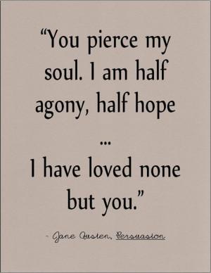 Jane Austen Persuasion literary quote on love by jenniferdare on Etsy ...