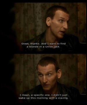 Doctor Who Funny Christopher Eccleston 9th Doctor Ninth Doctor ...