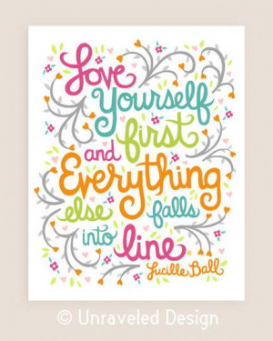 11x14in Lucille Ball Quote Illustration Print. by unraveleddesign, $35 ...