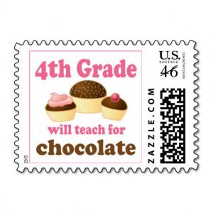 Funny 4th Grade Teacher Stamp