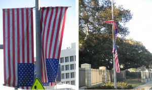 , AAA Flag & Banner refused to remove these disgraced American Flags ...