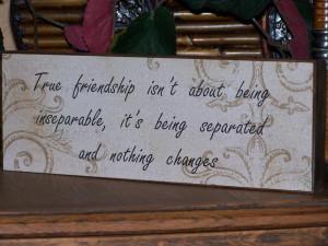 Decoupage Sign, True Friendship Bridesmaid Quote, Home Decor, Wedding ...