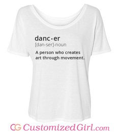 Dance shirts, shorts, bags, and more from Customized Girl #dance ...