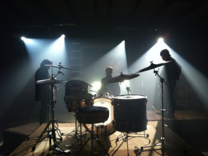 """Jamie (drums) took this cool shot from the """"set"""" of our Anthem ..."""