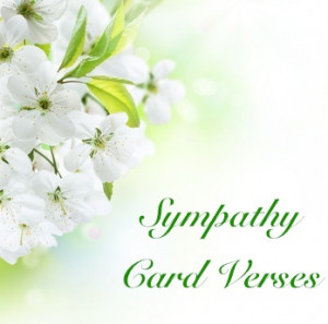 Sympathy card verses are a great choice for wording for your sympathy ...