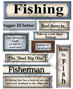 Details about Printable Scrapbook Sayings..Fishi ng #2