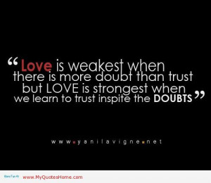 Quotes | love is strongest when we learn to trust, quotes about broken ...
