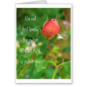 Summer Peach Rose Bud Rumi Quote Cards