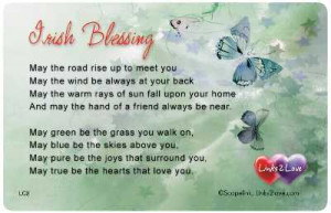 You can give this Irish Blessing wallet card to a friend ...