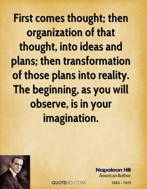 Napoleon Hill Imagination Quotes