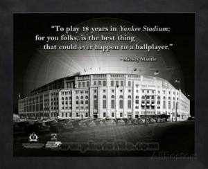 Yankee Stadium – Mickey Mantle ProQuote Framed Memorabilia