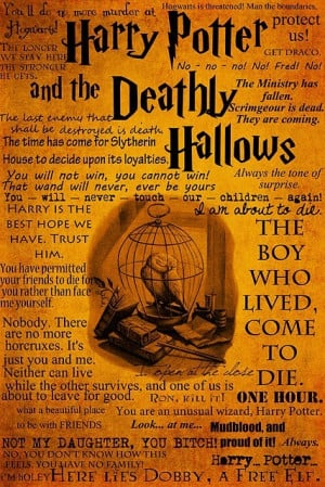 deathly hallows, harry potter, quotes