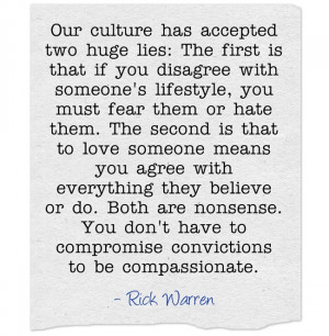 Timely Quote From Rick Warren