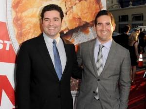 Jon Hurwitz and Hayden Schlossberg attend the Universal Pictures
