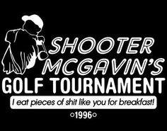 Shooter McGavin Logo On American Apparel Unisex Mens Womens T-Shirt ...