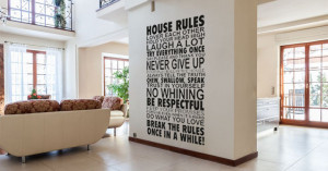 ... Each Other, Hold Your Head Up High, Laugh A Lot.... - Wall Art Quote
