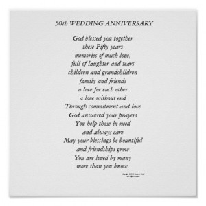 50th Wedding Anniversary Print
