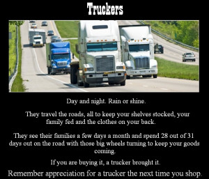 Trucker Appreciation