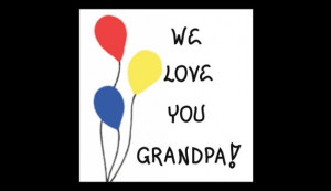 Grandfather Gift Magnet - Grandpa Quote, Opa, blloons, red, yellow ...