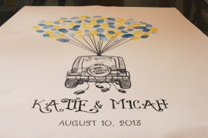 Just Married Jeep Thumbprint Guest Book Print